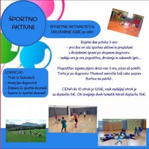 Športno aktivni rojstni dan _ Svet zabave