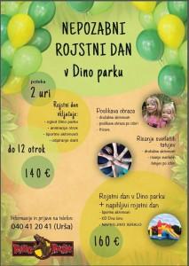 Rojstni dan Dino park - letak